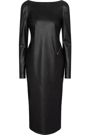 Tom Ford Faux leather midi dress