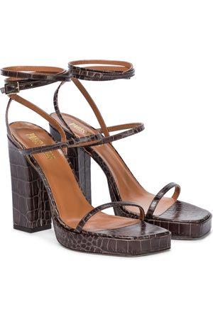 PARIS TEXAS Bianca croc-effect leather sandals