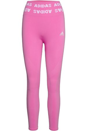 adidas Kvinder Tights - Training Aeroknit 7/8 High-Rise Tights W Running/training Tights Lyserød
