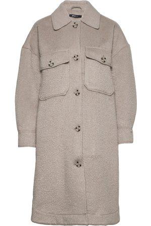 Gina Tricot Nejla Shirt Jacket Uldfrakke Frakke