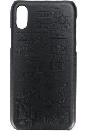 Saint Laurent Mænd Mobil Covers - Crocodile effect iPhone 10 case