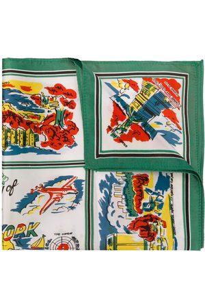 Comme des Garçons Mænd Lommetørklæder - Lommetørklæde med NYC-tryk