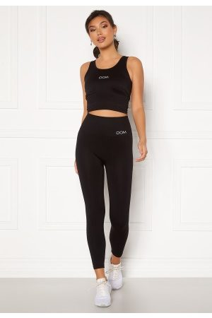 Drop Of Mindfulness Kvinder Tights - Cora Seamless Leggings 001 Black XS