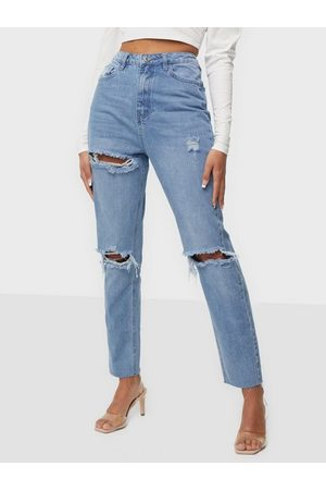 Missguided Highwaisted Rip Straight Jeans Straight fit