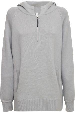 Nike Esc Hooded Wool Blend Knit Sweater