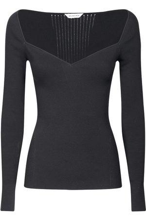 Balenciaga Off-the-shoulder Long Sleeved Knit Top