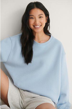 NA-KD Kvinder Sweatshirts - Økologisk Rummelig Børstet Trøje