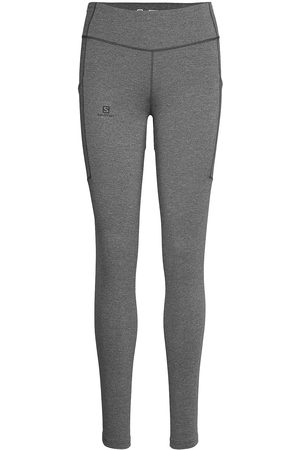 Salomon Outline Tight W Ebony/Heather Running/training Tights Grå