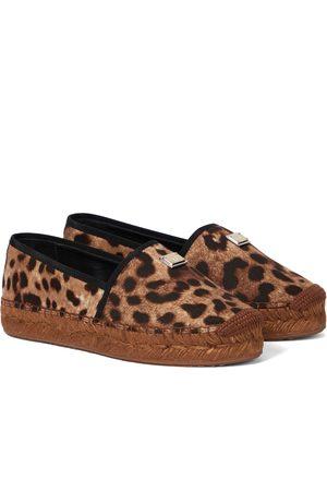 Dolce & Gabbana Kvinder Espadrillos - Leopard-print platform espadrilles