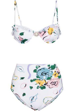 Alessandra Rich Kvinder Bikinier - Floral bandeau bikini