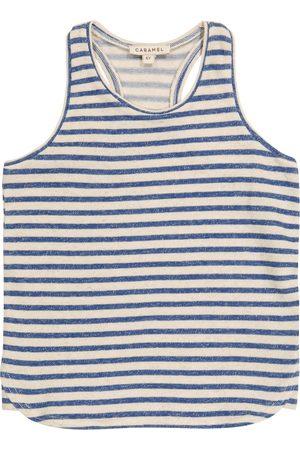 Caramel Piger Tanktoppe - Bluebottle striped cotton and linen tank top