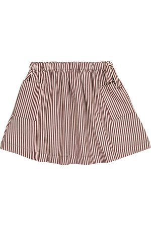 Caramel Cormoran striped cotton poplin skirt