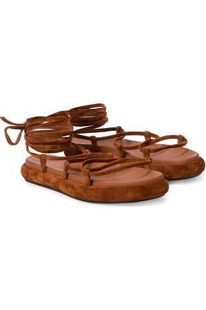 Khaite Alba suede sandals