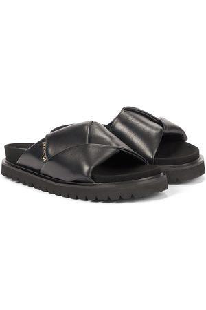 Moncler Fantine leather slides
