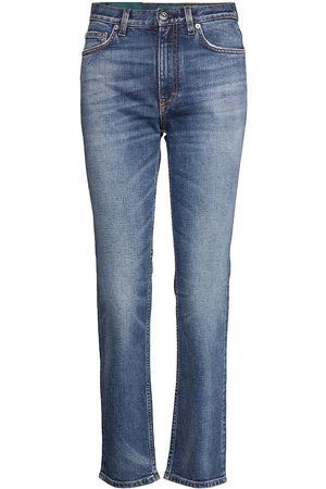 Self Cinema Kvinder Slim - Womens Slim Straight Jean Embroidered Lige Jeans