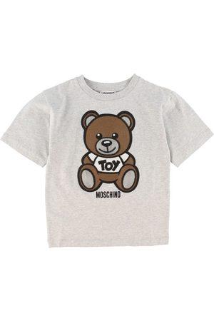 Moschino T-shirt - Gråmeleret m. Logo