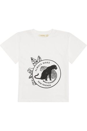 Soft Gallery T-shirt - Asger - Snow White m. Panter