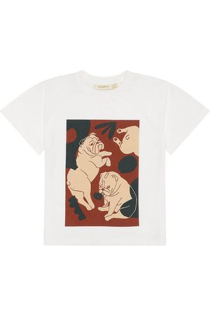 Soft Gallery T-shirt - Asger - Snow White m. Hunde