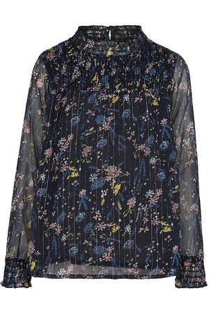 Creamie Bluse - Total Eclipse m. Blomster