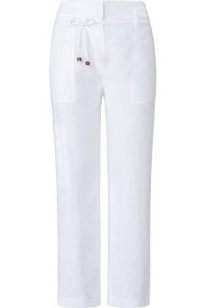 raffaello rossi Kvinder Bukser - Ankellang buks model Xana i 100% hør Fra hvid