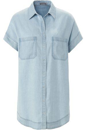 Mybc Kvinder Denim - Denimskjorte overskårne skuldre Fra blå