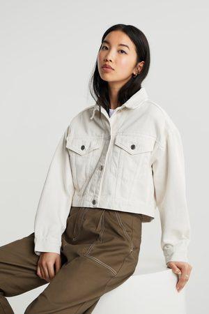 Gina Tricot Kvinder Cowboyjakker - Cropped denim jacket