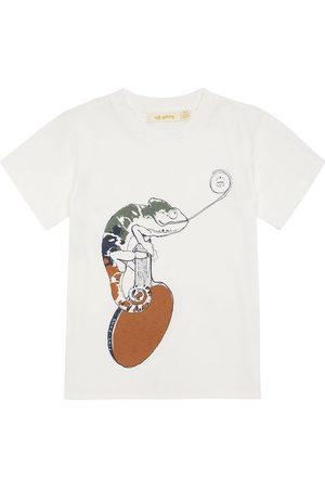 Soft Gallery T-shirt - Norman - Snow White m. Kamæleon