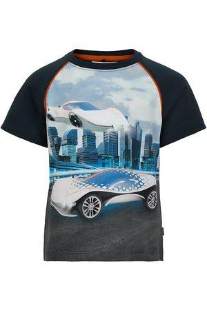 Minymo Kortærmede - T-shirt - Navy m. Biler