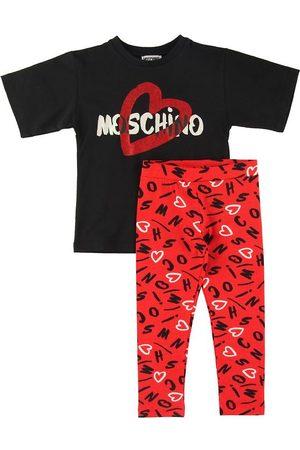 Moschino Kortærmede - Sæt - T-shirt/Leggings - / m. Print