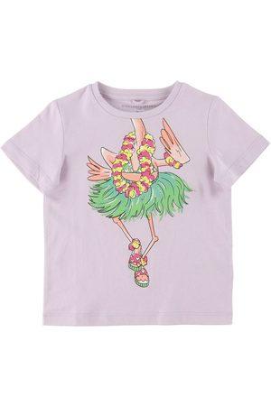Stella McCartney Kortærmede - T-shirt - Lavendel m. Hawaii Flamingo