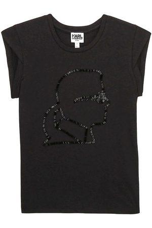 Karl Lagerfeld Kortærmede - Karl Lagerfeld T-shirt - Digit Aesthetic - m. Pailletter