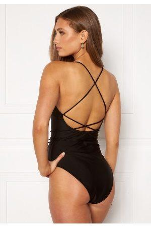 BUBBLEROOM Kvinder Badedragter - Melia high thigh strap swimsuit Black L
