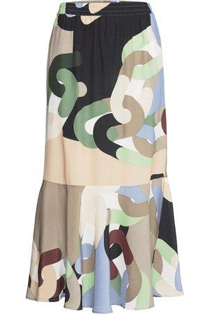 Coster Copenhagen Kvinder Maxinederdele - Skirt In Chain Print Lang Nederdel Multi/mønstret