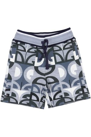 Dolce & Gabbana Shorts - Sweatshorts - Grå/Blå m. Logoer