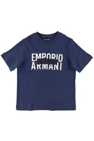 Emporio Armani Kortærmede - T-shirt - Navy m. Print