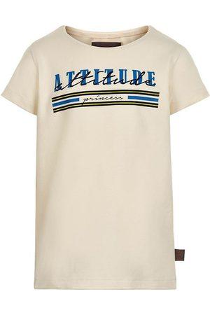 Creamie Kortærmede - T-shirt - Attitude - Buttercream m. Print