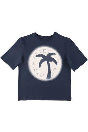 Stella McCartney Kortærmede - T-shirt - Navy m. Palme