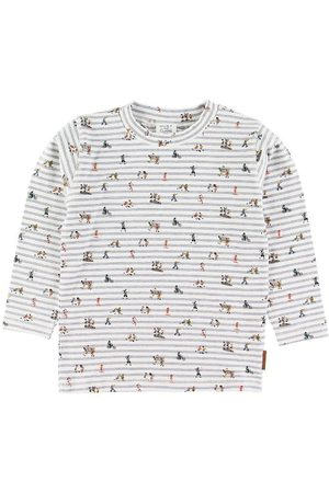 Hust and Claire Bluse - Anton - /Blåstribet m. Print