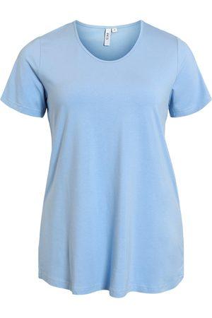 Ciso Kvinder Kortærmede - Basis T-shirt i A-facon med korte ærmer - Allure Blue - S