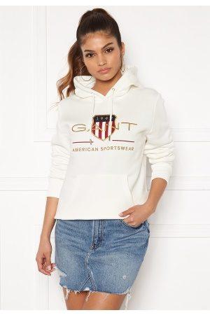GANT Kvinder Sweatshirts - Archive Shield Sweat Hoodie 113 Eggshell S