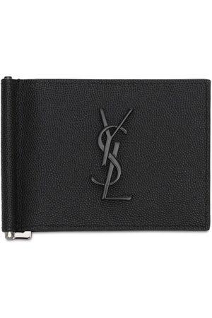 Saint Laurent Mænd Punge - Monogram Leather Wallet W/ Bill Clip