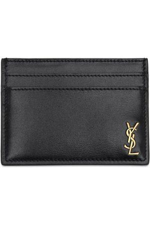 Saint Laurent Mænd Punge - Tiny Monogram Leather Card Holder