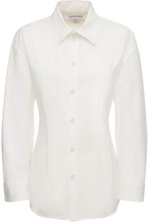 Bottega Veneta Kvinder Langærmede - Stretch Cotton Poplin Classic Shirt