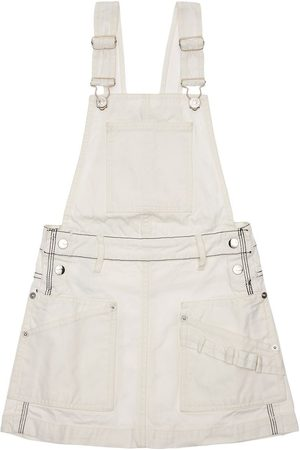 Diesel Piger Overalls - Cotton Canvas Overall Dress