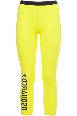 Dsquared2 Logo Stretch Cotton Crop Leggings