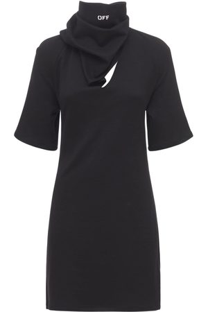 OFF-WHITE Kvinder Casual kjoler - Bandana Cotton Jersey T-shirt Mini Dress