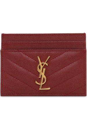 Saint Laurent Monogram Grained Leather Card Holder