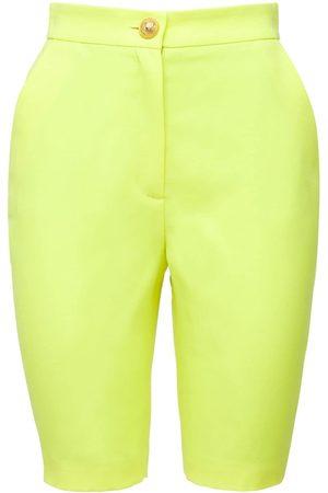 Balmain Kvinder Shorts - Wool Grain De Poudre Cycling Shorts