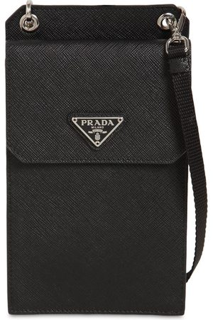 Prada Mænd Mobil Covers - Saffiano Leather Cell Phone Bag