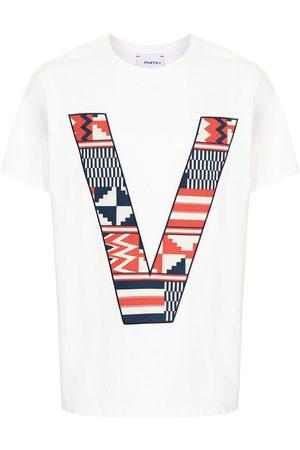 Ports V Bomulds-T-shirt med V-logo
